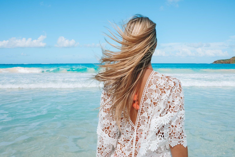 Blonde Hair on the Beach