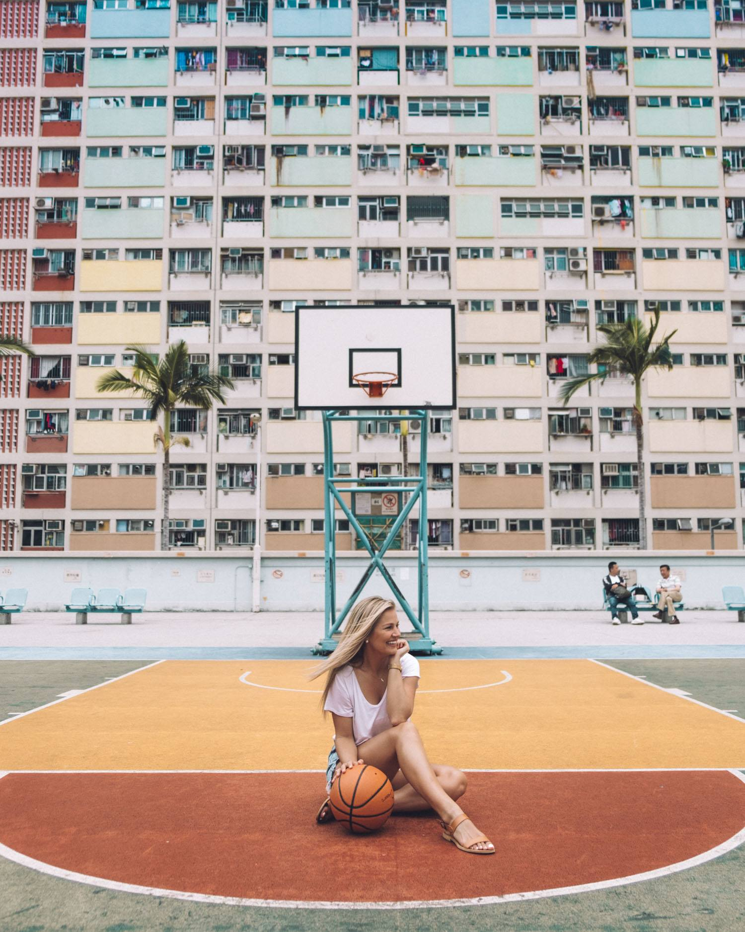 Blonde in Hong Kong