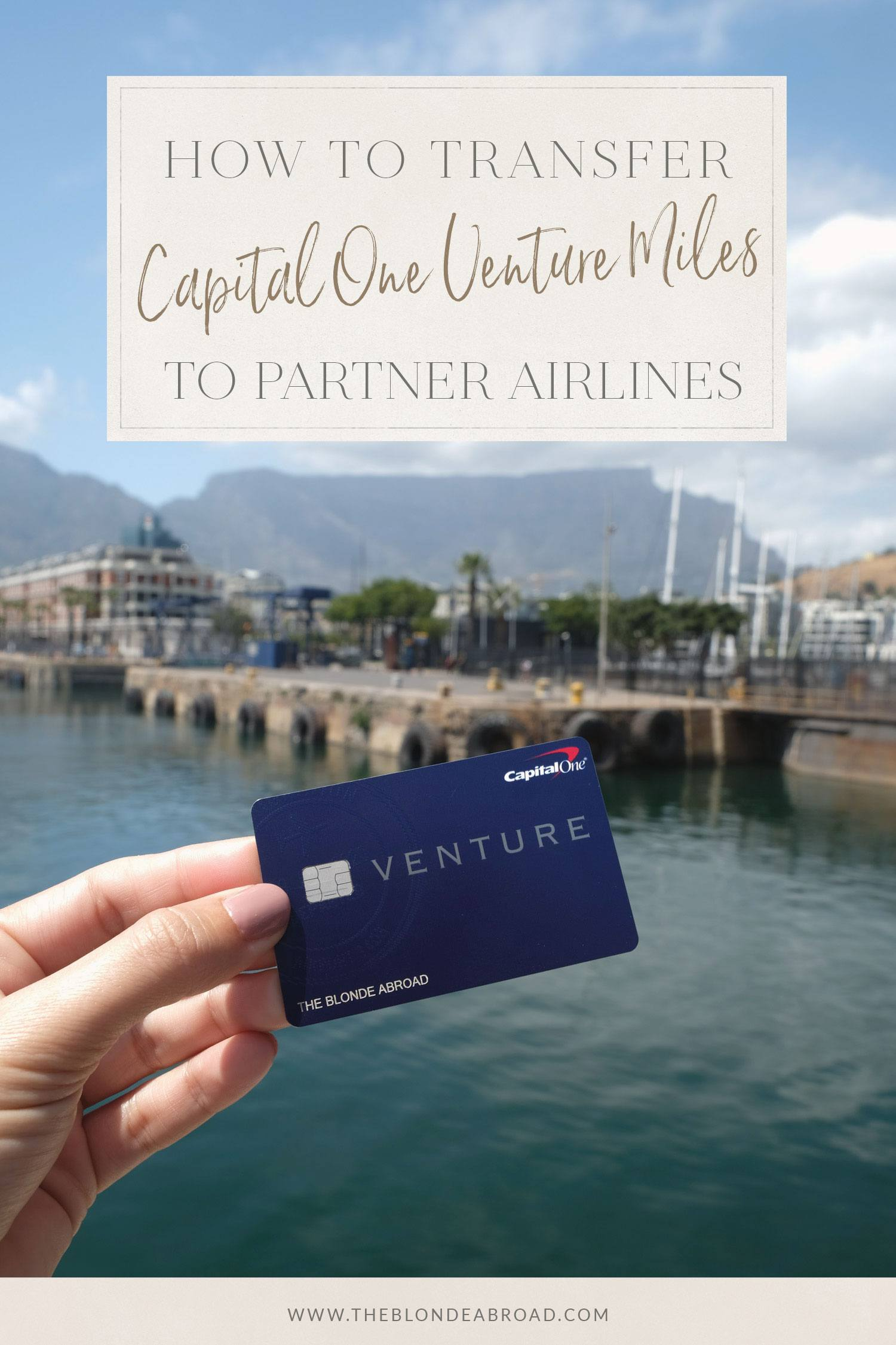 How to Transfer Capital One Venture Miles to Partner Airlines