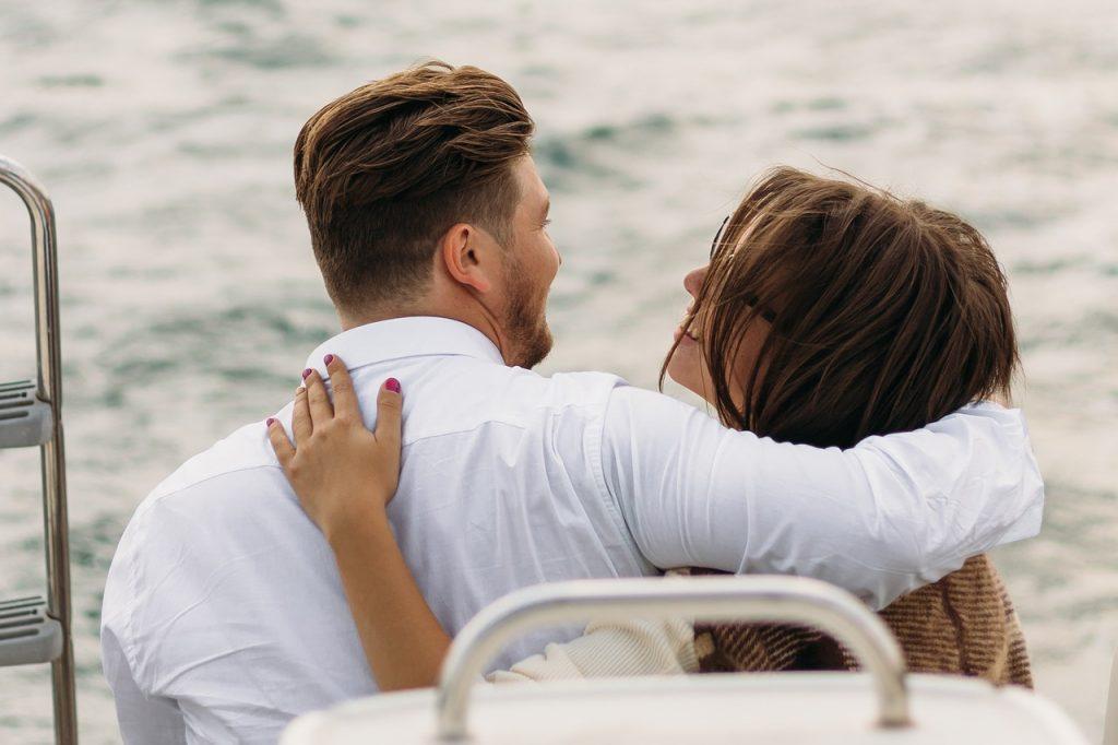 Honeymoon on a yacht