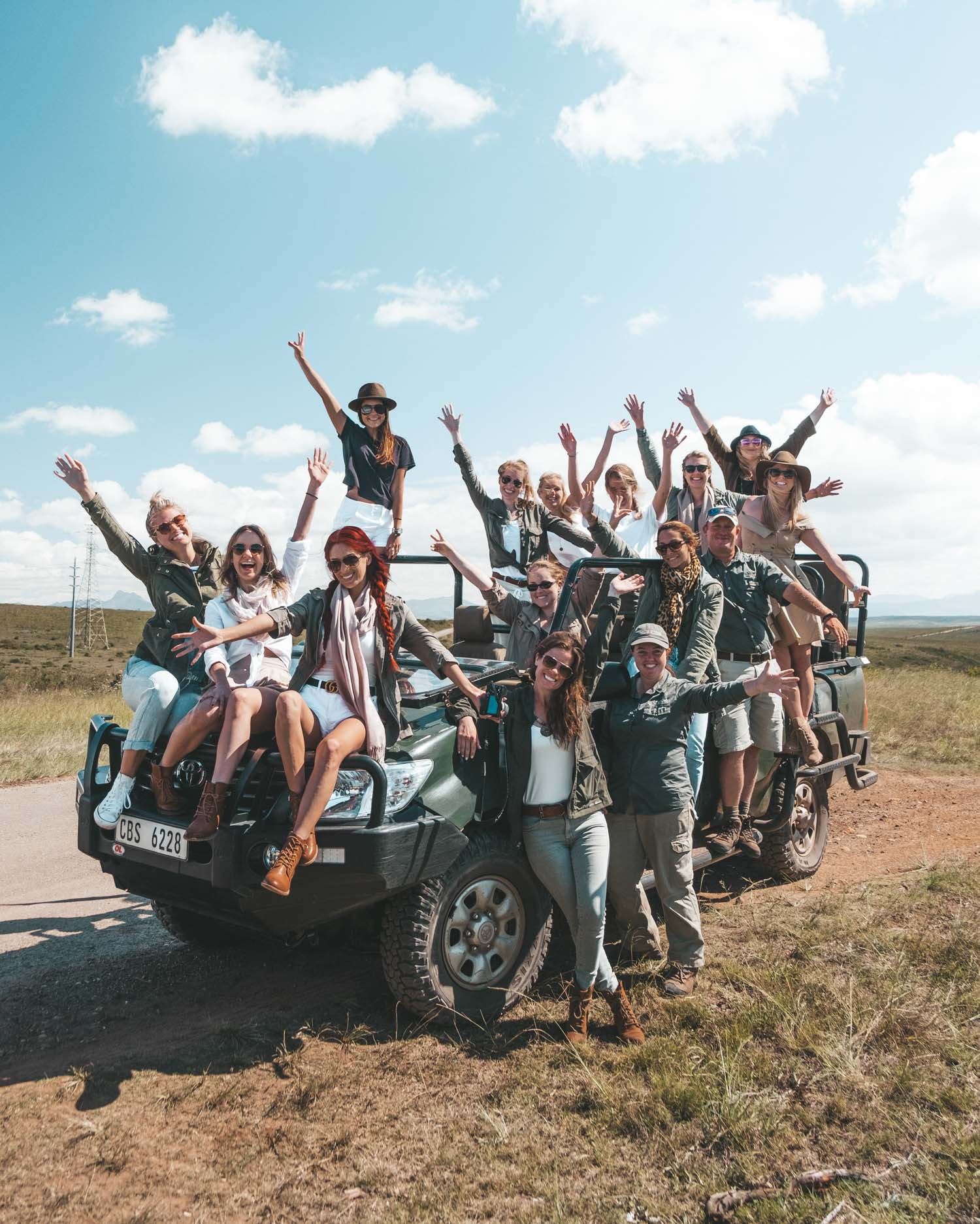 girls on tba escapes tour in south africa