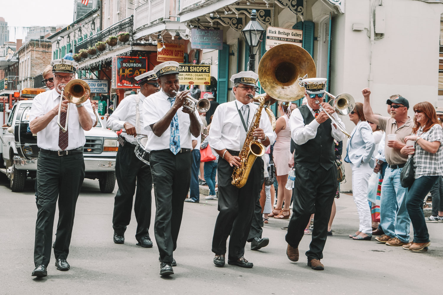 New Orleans Louisiana 2nd line jazz band
