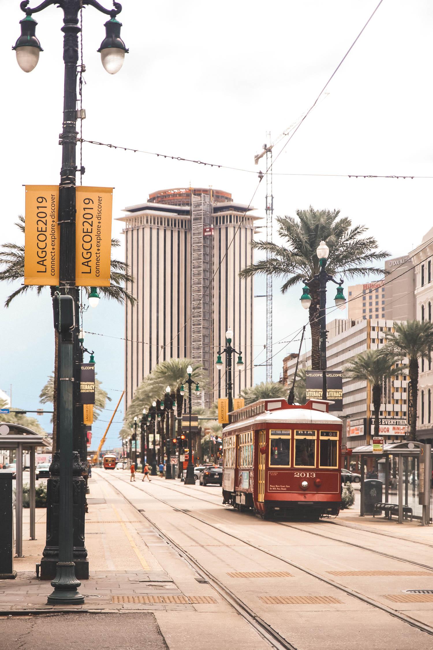 New Orleans Louisiana streetcar