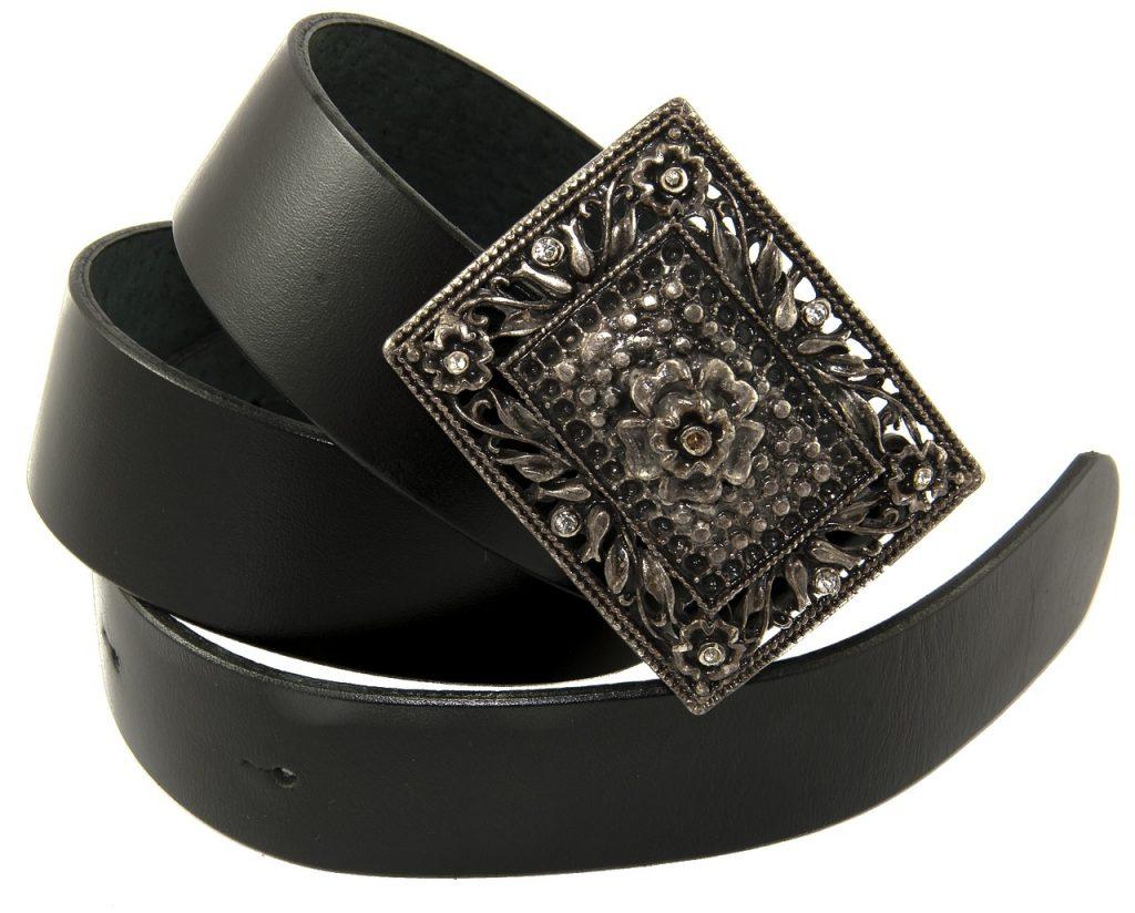 Belt with silver buckel