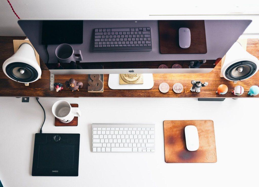 Create an office setup at home