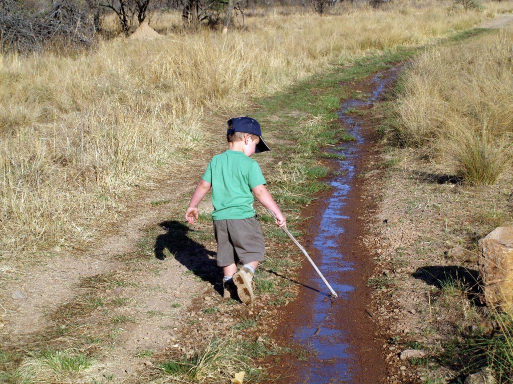 Child playing alone