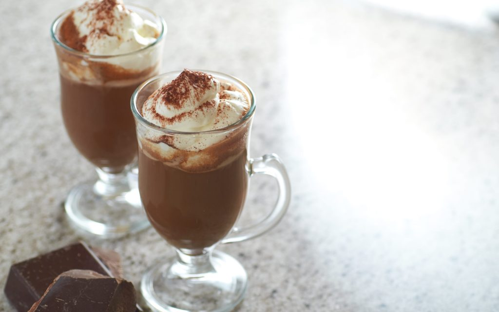 Serve hot chocolate