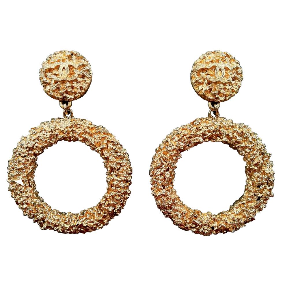 CHANEL Fashion Hoop Earrings